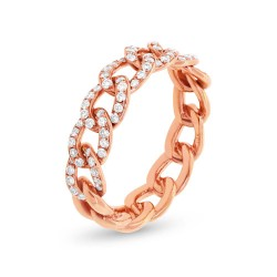 Madison E 0.41ct 14k Rose Gold Diamond Chain Ring