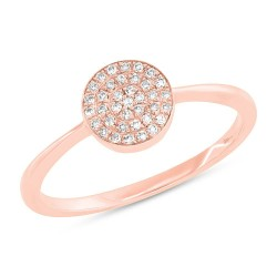 Madison E 0.11ct 14k Rose Gold Diamond Pave Lady