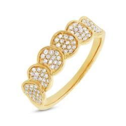 Madison E 0.28ct 14k Yellow Gold Diamond Pave Lady
