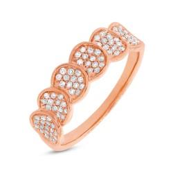 Madison E 0.28ct 14k Rose Gold Diamond Pave Lady