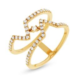 Madison E 0.43ct 14k Yellow Gold Diamond Lady