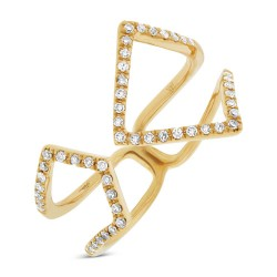 Madison E 0.24ct 14k Yellow Gold Diamond Lady