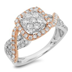 Madison E 0.99ct 14k Two-tone Rose Gold Diamond Lady