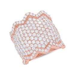 Madison E 3.91ct 14k Rose Gold Diamond Pave Lady