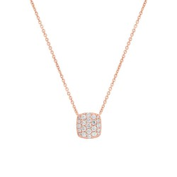 Madison E 0.53ct 14k Rose Gold Diamond Pave Necklace