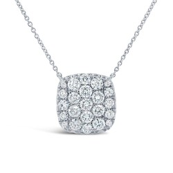 Madison E 1.09ct 14k White Gold Diamond Pave Necklace
