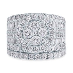 Madison E 4.16ct 14k White Gold Diamond Cluster Lady