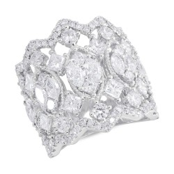 Madison E 4.14ct 14k White Gold Diamond Lady