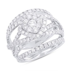 Madison E 2.20ct 14k White Gold Diamond Cluster Lady