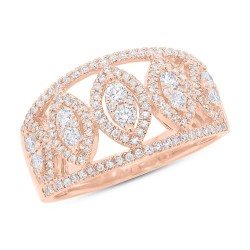 Madison E 0.71ct 14k Rose Gold Diamond Lady
