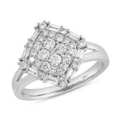 Madison E 0.75ct 14k White Gold Diamond Lady
