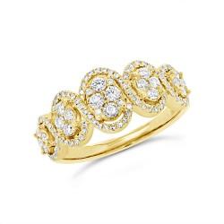 Madison E 0.55ct 14k Yellow Gold Diamond Lady