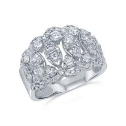 Madison E 1.69ct 14k White Gold Diamond Lady