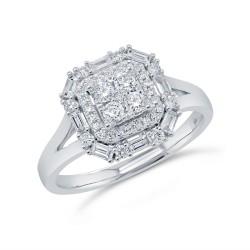 Madison E 0.54ct 14k White Gold Diamond Lady