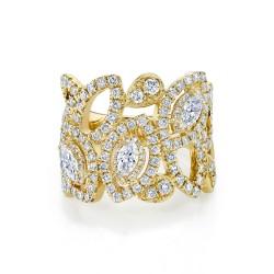 Madison E 1.87ct 14k Yellow Gold Diamond Lady