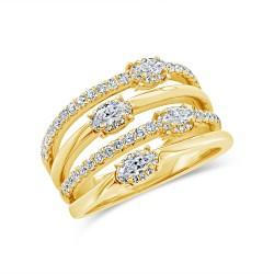 Madison E 0.84ct 14k Yellow Gold Diamond Lady