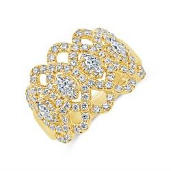 Madison E 1.16ct 14k Yellow Gold Diamond Lady