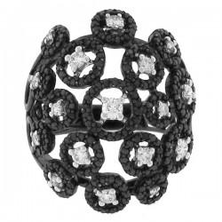 Madison E 1.40ct 14k Black Rhodium Black & White Diamond Ring