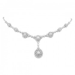 Madison E 5.31ct 14k White Gold Diamond Necklace