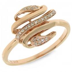 Madison E 0.08ct 14k Rose Gold Diamond Lady