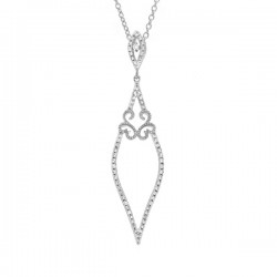 Madison E 0.25ct 14k White Gold Diamond Pendant
