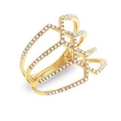 Madison E 0.35ct 14k Yellow Gold Diamond Lady