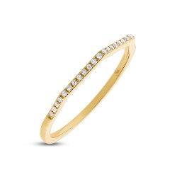 Madison E 0.07ct 14k Yellow Gold Diamond Lady