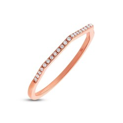 Madison E 0.07ct 14k Rose Gold Diamond Lady