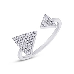Madison E 0.21ct 14k White Gold Diamond Triangle Lady