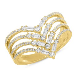 Madison E 0.70ct 14k Yellow Gold Diamond Baguette Lady