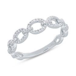 Madison E 0.23ct 14k White Gold Diamond Link Ring