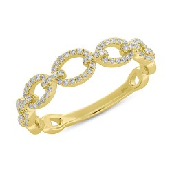 Madison E 0.23ct 14k Yellow Gold Diamond Link Ring
