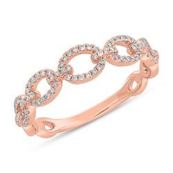 Madison E 0.23ct 14k Rose Gold Diamond Link Ring