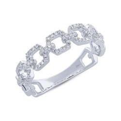 Madison E 0.22ct 14k White Gold Diamond Link Ring