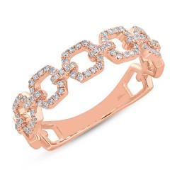 Madison E 0.22ct 14k Rose Gold Diamond Link Ring