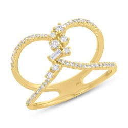 Madison E 0.33ct 14k Yellow Gold Diamond Lady