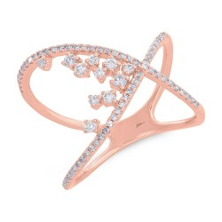 Madison E 0.36ct 14k Rose Gold Diamond Lady