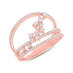 Madison E 0.43ct 14k Rose Gold Diamond Lady