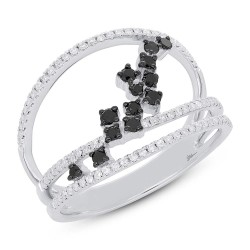 Madison E 0.43ct 14k White Gold Black & White Diamond Lady