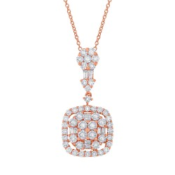 Madison E 1.77ct 18k Rose Gold Diamond Pendant