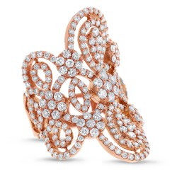 Madison E 4.43ct 18k Rose Gold Diamond Lady