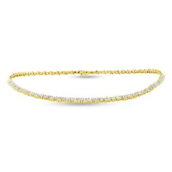 Madison E 3.96ct 14k Yellow Gold Diamond Baguette Choker Necklace