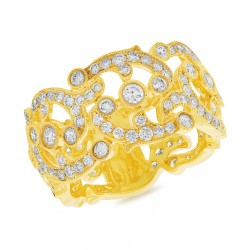 Madison E 2.16ct 14k Yellow Gold Diamond Lady