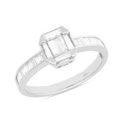 Madison E 0.53ct 18k White Gold Diamond Baguette Lady