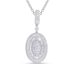 Madison E 3.84ct 18k White Gold Diamond Pendant