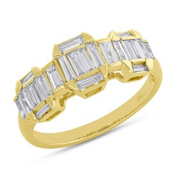 Madison E 0.69ct 18k Yellow Gold Diamond Baguette Lady