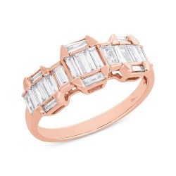 Madison E 0.69ct 18k Rose Gold Diamond Baguette Lady