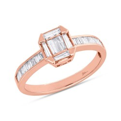 Madison E 0.53ct 18k Rose Gold Diamond Baguette Lady