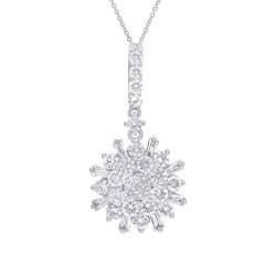 Madison E 1.15ct 14k White Gold Diamond Necklace