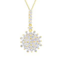 Madison E 1.15ct 14k Yellow Gold Diamond Necklace